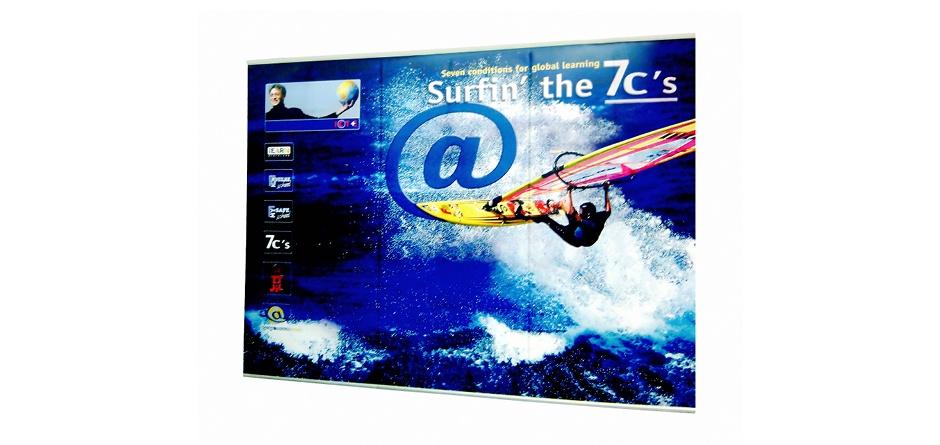 4-screen banner gekoppeld