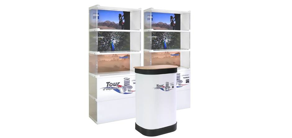 Mobiele vitrine LIFT showcase