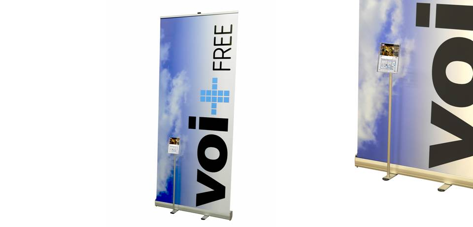 Roll-banner basic met folder